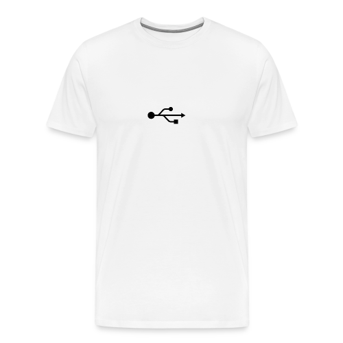 Small USB Logo Left Chest - Men's Premium T-Shirt