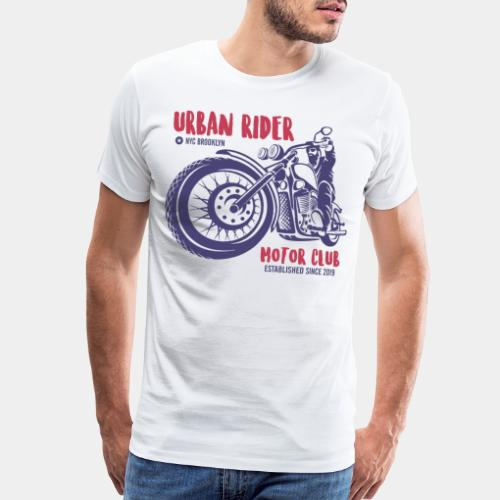 urban rider motorcycle biker - Men's Premium T-Shirt