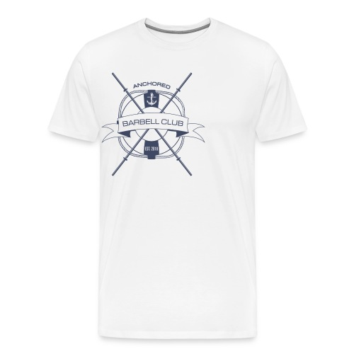 Anchored Barbell Club Blue - Men's Premium T-Shirt