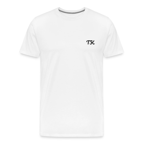 Thom Kenobi clothing TK initials in pacifico font - Men's Premium T-Shirt