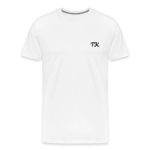 Thom Kenobi clothing TK initials in pacifico font - Men's Premium T-Shirt