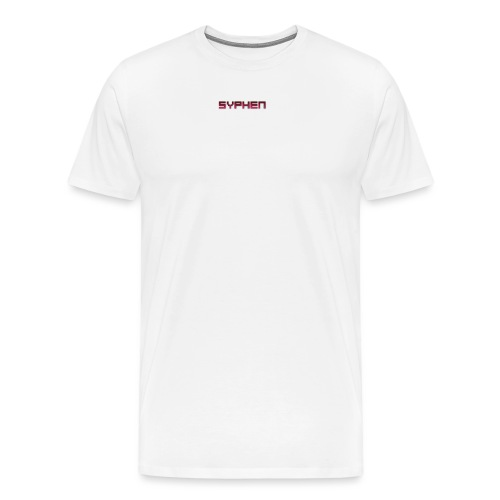 syphen text - Men's Premium T-Shirt