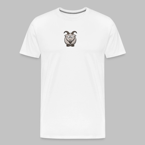 lemmling Cartoon goat 800 - Men's Premium T-Shirt
