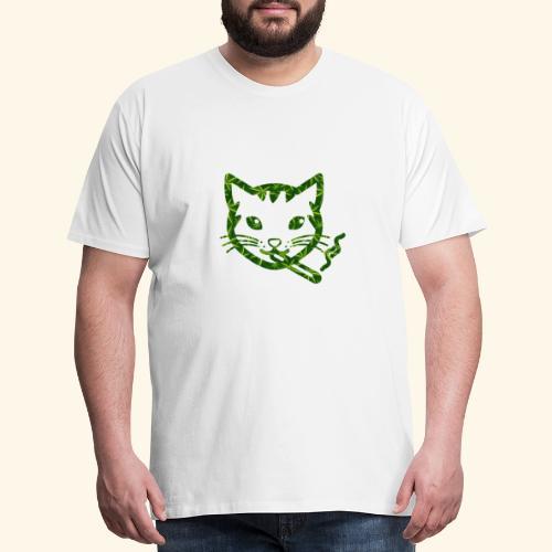 Smoking Cat Design - Men's Premium T-Shirt