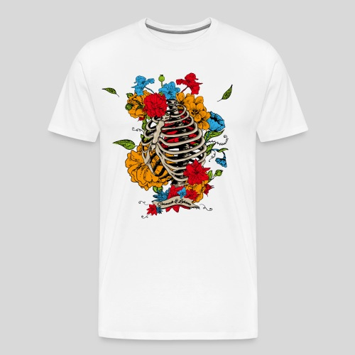 Flowers in my chest - Men's Premium T-Shirt