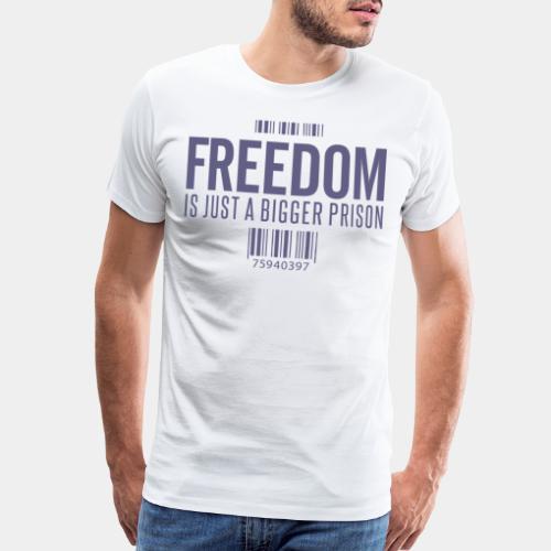 freedom free prison jail - Men's Premium T-Shirt