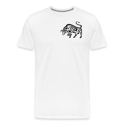 tribal cool running bull taurus tattoo design - Men's Premium T-Shirt