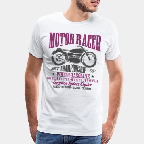 motorcycle biker rider - Men's Premium T-Shirt