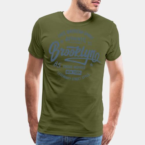 brooklyn vintage authentic - Men's Premium T-Shirt