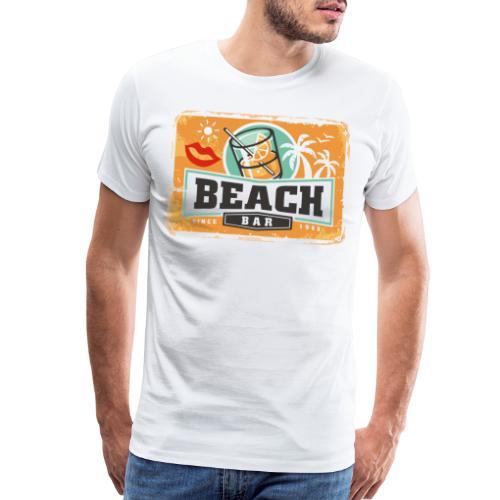 beach bar drinks palms - Men's Premium T-Shirt