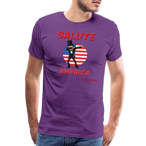 SALUTE AMERICA RED - Men's Premium T-Shirt