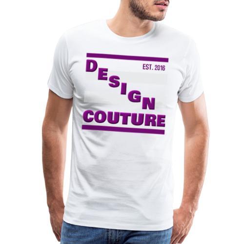 DESIGN COUTURE EST 2016 PURPLE - Men's Premium T-Shirt