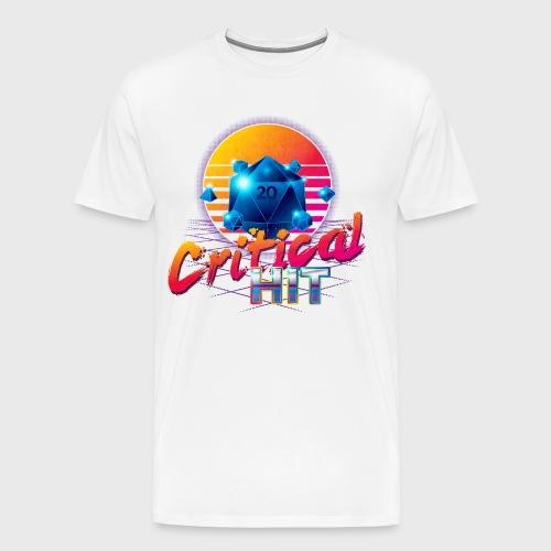 Critical Hit Dungeons Fantasy Outrun Design - Men's Premium T-Shirt