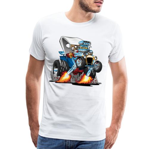 Custom T-bucket Roadster Hotrod Cartoon - Men's Premium T-Shirt