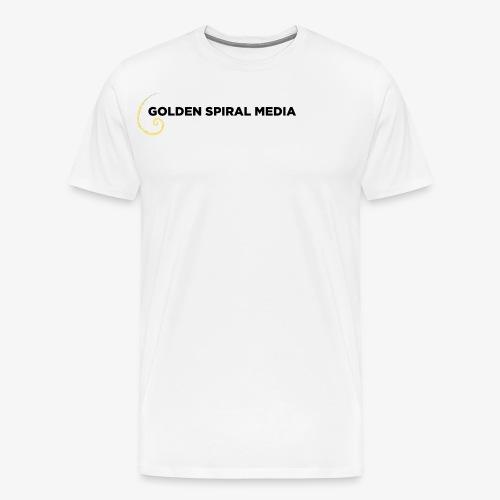 Golden Spiral Media Black Logo - Men's Premium T-Shirt