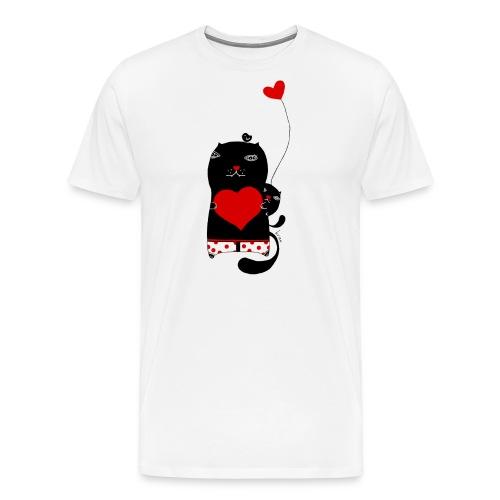 Cats w Hearts Kristina S - Men's Premium T-Shirt
