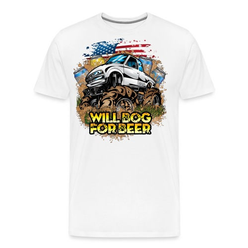 Mud Truck Bog 4 Beer - Men's Premium T-Shirt