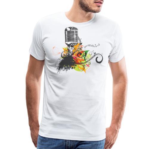 Funky Color Mic - Men's Premium T-Shirt