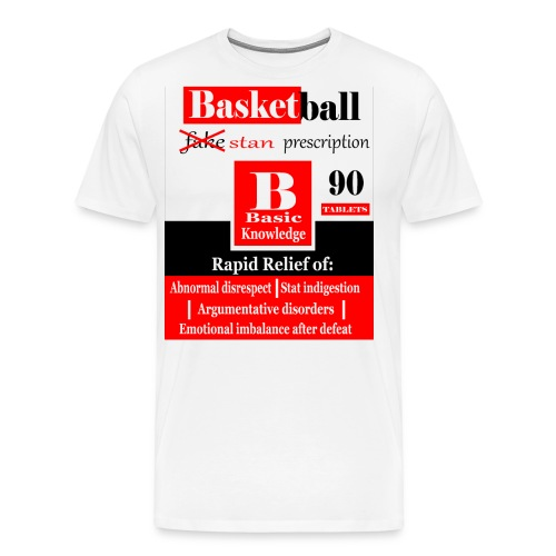 basketball prescription final - Men's Premium T-Shirt