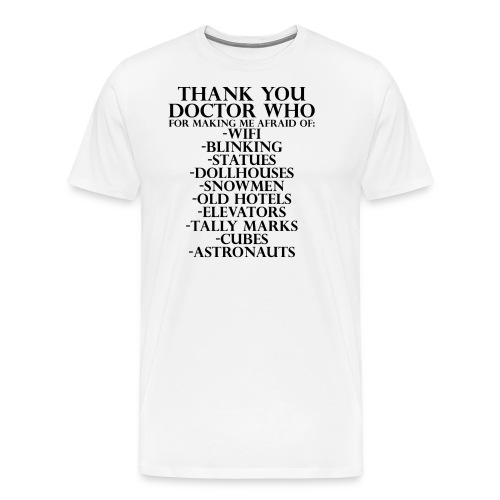 Thank You Doctor Who - Men's Premium T-Shirt