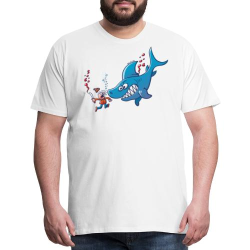 Sharks are Furious, Stop Finning! - Men's Premium T-Shirt