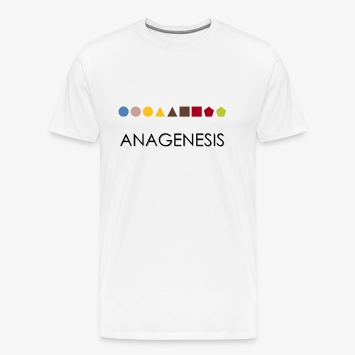 Minimalist design: anagenesis (light background) - Men's Premium T-Shirt