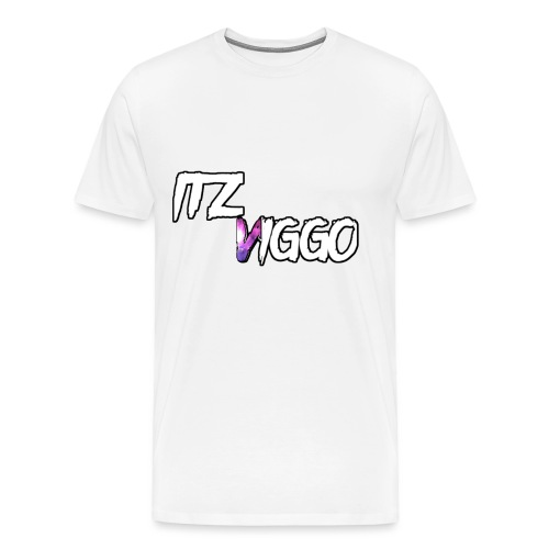 Purple V logo - Men's Premium T-Shirt