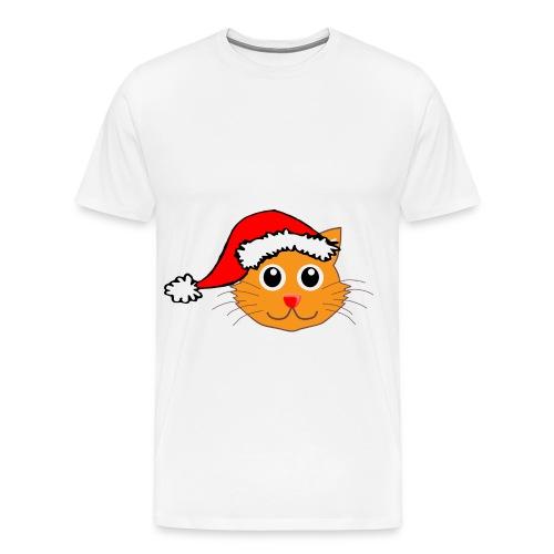 Santa Paws Cat - Men's Premium T-Shirt