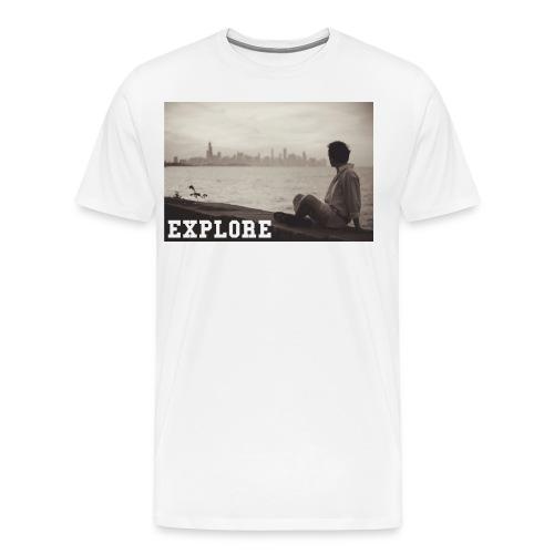 fuzzy jpg - Men's Premium T-Shirt