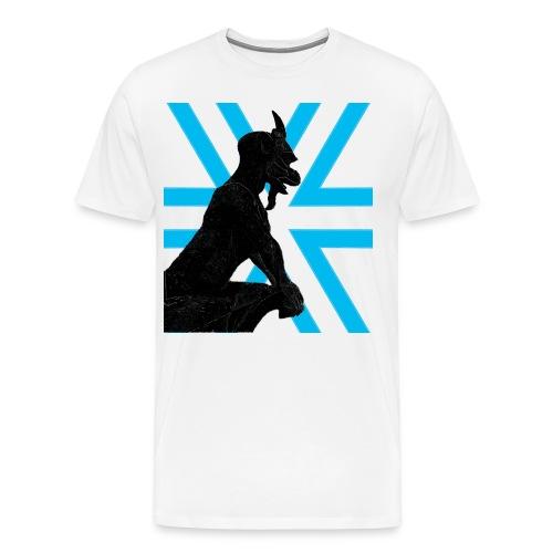 Gargoyle Silhouette - Men's Premium T-Shirt