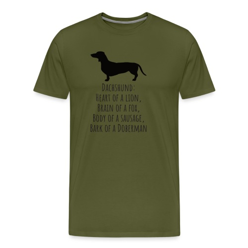 Dachshund Love - Men's Premium T-Shirt