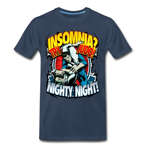 Insomnia Judo Design - Men's Premium T-Shirt