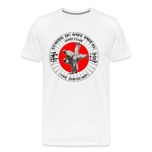 Judo Shirt Judo Accessories School of Hards Knocks - Men's Premium T-Shirt