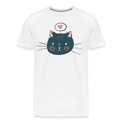 Cat Face by Kelsey King - Men's Premium T-Shirt