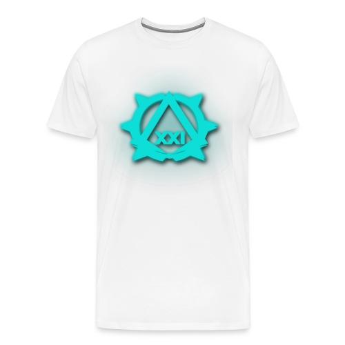 XXI Logo Aqua - Men's Premium T-Shirt