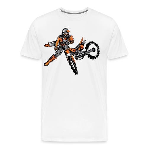 Orange Freestyle Motocross Rider - Men's Premium T-Shirt