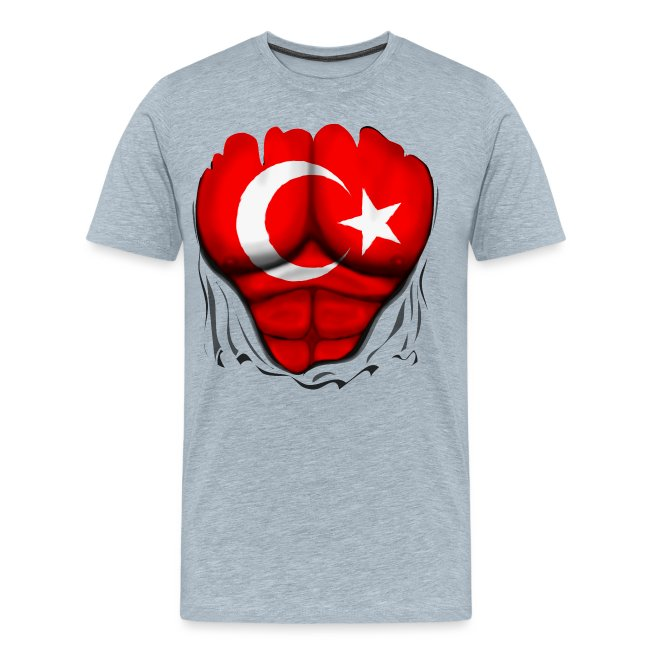 Turkey Flag Ripped Muscles, six pack, chest