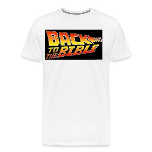 back to the bible tshirt - Men's Premium T-Shirt