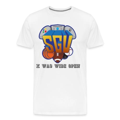 X was wide open Tee Black - Men's Premium T-Shirt