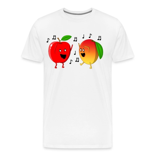 Dancing Apple and Mango - Men's Premium T-Shirt