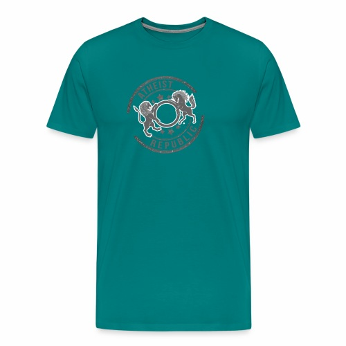Atheist Republic Logo - Starred Stamp - Men's Premium T-Shirt
