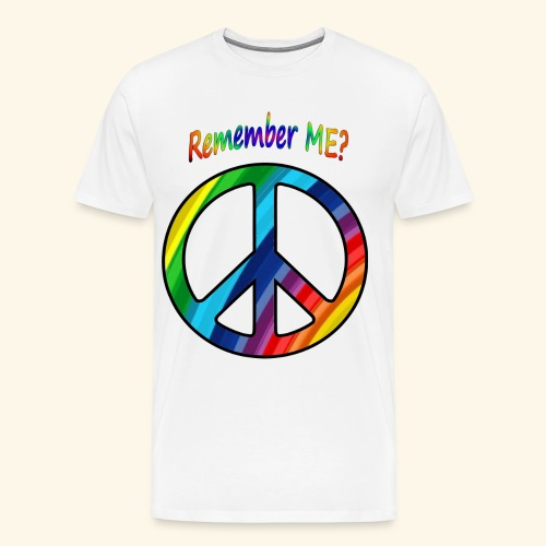 remember me - Peace Sign - Men's Premium T-Shirt