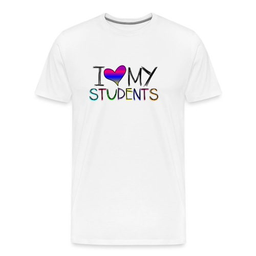 Love my studentss png - Men's Premium T-Shirt