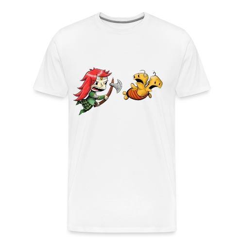 Double Unfine w o Text - Men's Premium T-Shirt