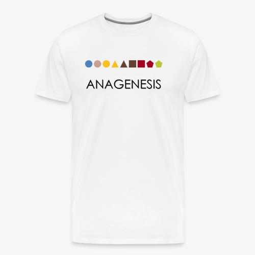 Minimalist design: anagenesis (light background) - Men's Premium T-Shirt