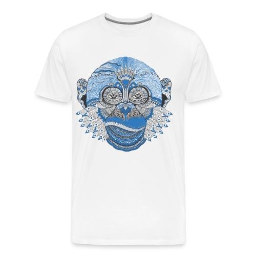 Decorated monkey face - Men's Premium T-Shirt