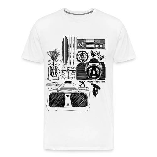 Aviator s World black - Men's Premium T-Shirt
