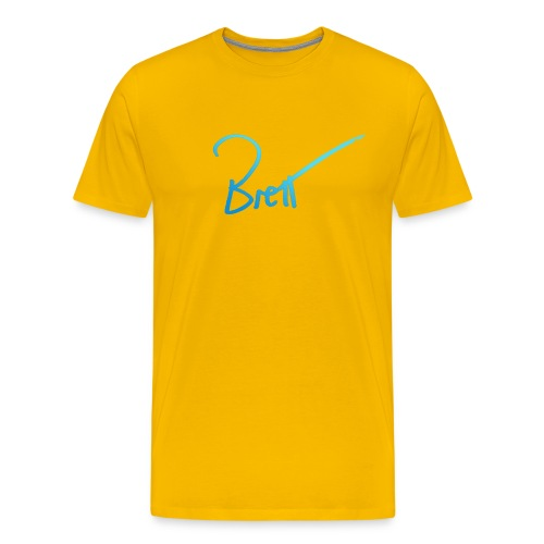 Handwritten Brett - Men's Premium T-Shirt