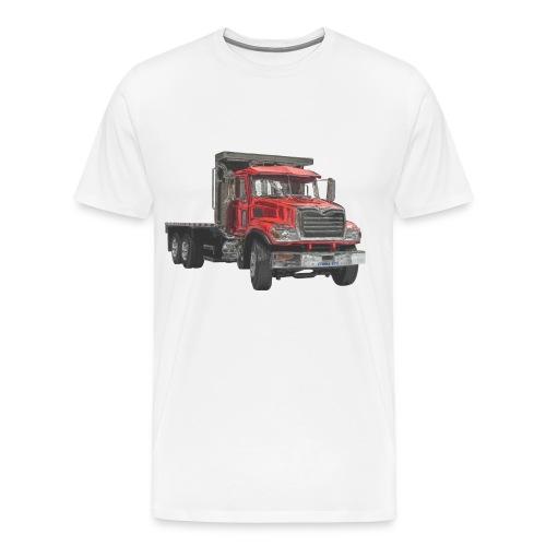 Flatbed Truck - Red - Men's Premium T-Shirt