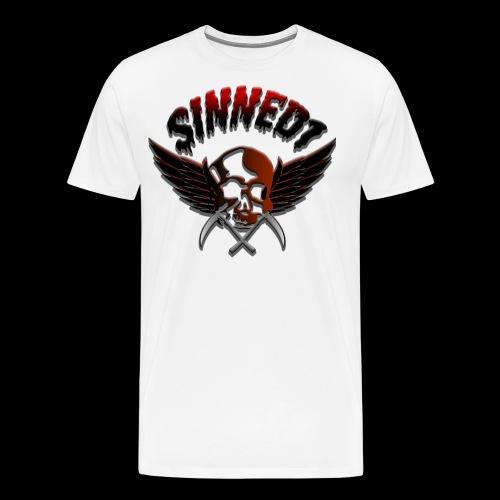 Sinned1 Dripping Text - Men's Premium T-Shirt